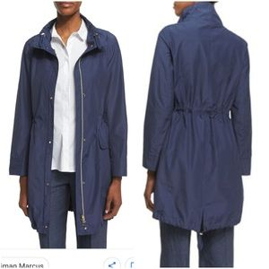 PESERICO POLISHED DRAWSTRING RAINCOAT